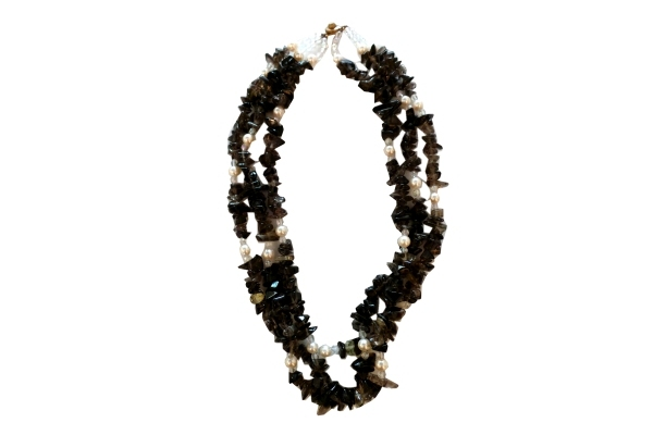 Precious Stone and Pearls Necklace